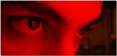 I looked into your eyes (~~[(QTR)]~Mubarak~) Tags: red portrait reflection love hearts lights eyes day moi valentines redlights doha qatar qtr eyeheart mubarakqtr mubarakqatar