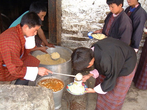 School in Ura, Bhutan: Food for Education
