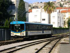 Chemins de fer de Provence (edsel) Tags: train geotagged nice railway railcar narrow chemin nizza azur fer nissa traindespignes cheminsdeferdeprovence automoteur