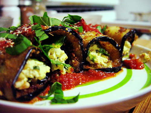 Eggplant Spinach Rollatini