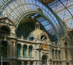 Antwerp. Railway station.