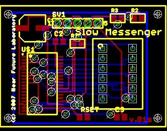 SlowMessenger_Max6953_Breakout_Board