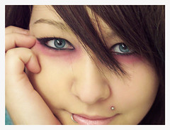 Sam 2 (Avis Rara) Tags: blue portrait girl closeup asian eyes makeup piercings