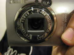 Closeup mirror picture of our new Canon SD800-IS camera