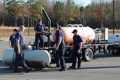 LP Gas Set-Up (cozmosis) Tags: training arkansas firefighting firefighters mfd fireacademy pulaskicounty diamondcenter maumelle cshift maumellefiredepartment lpgas arkansasfireacademy