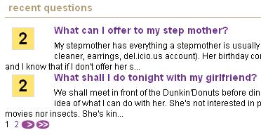 最近投稿された質問の一覧