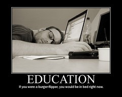 """Education"" ""motivational"" poster"