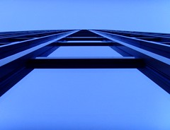 Twilight blues (michaelab311) Tags: blue abstract building topf25 architecture twilight 100v10f lookingup minimalism dusseldorf dsseldorf duesseldorf bluehue 25faves everythingsgeometry 30faves30comments300views anawesomeshot impressedbeauty ultimateshot flickrjobdiff flickrjobprem 300viewsviews300 wubderbar ultimateskyscrapershots