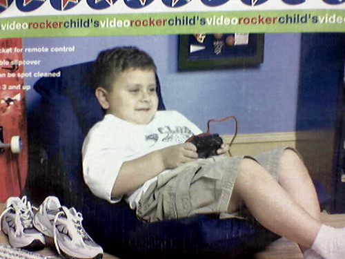 here it is the prototypical gamer the couch potatoe ifObese Children Playing Video Games