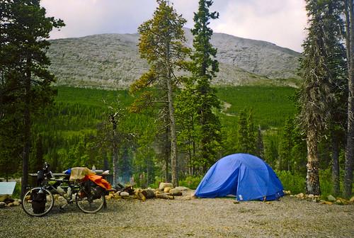 Florida to Alaska on Bicycle (#104)   August 8, 1997:  Summit Lake, British Columbia by worldwidewandering