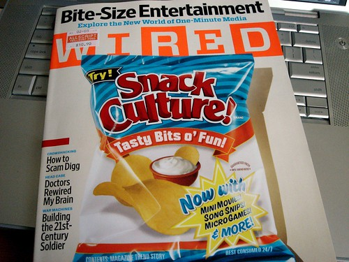 Wired's Snack Culture feature story (March 2007)