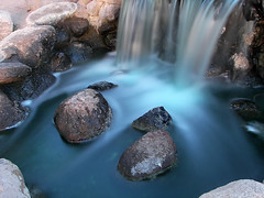 Silky Blue (AzRedHeadedBrat) Tags: longexposure blue arizona southwest green wet water digital photography waterfall interestingness agua rocks colorful tucson smooth silk explore amateur h20 slowliquid reidpark instantfave azredheadedbrat sharleneshappart anawesomeshot impressedbeauty diamondclassphotographer flickrdiamond flkwrk