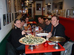 The gang at Albano's Brooklyn Pizzeria. (02/11/07)