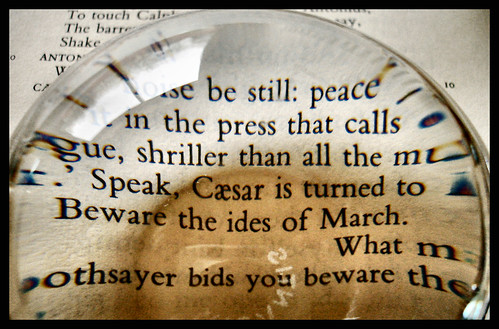 Beware the ides of March"