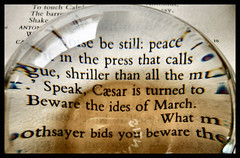 """Beware the ides of March"" (Claudia1967) Tags: distortion abstract juliuscaesar shakespeare caesar literature imagination series brutus antony today paperweight badday cassius treason ides march15 imaginarium premonition idesofmarch soothsayer thecompleteworksofwilliamshakespeare famousdates paperweightseries claudia1967"