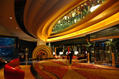 The Burj al Arab (oobwoodman) Tags: hotel dubai desk entrance lobby reception burjalarab butler scallop informationdesk luxury luxurious concierge