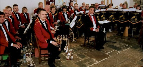 The band take part in David & Rebecca's Wedding Service