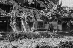 CrestWoodMallDemolition_SAF7453-2 (sara97) Tags: constructionequipment copyright©2016saraannefinke crestwoodmall demolition heavyequipment missouri outdoors photobysaraannefinke saintlouis bw blackandwhite blackwhite