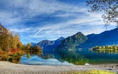 Acquarello (giannipiras555) Tags: lago idro collina spiaggia riflessi alberi autunno panorama landscape paesaggio nuvole nikon