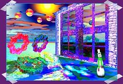 The window...! (MONKEY50) Tags: winter white abstract color colour art colors digital snowman colours purple surrealism balls fantasy mauve bryce paintshoppro flickraward colourartaward awardtree blinkagain