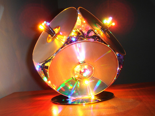 The incredible christmas CD-lamp by JaulaDeArdilla, on Flickr