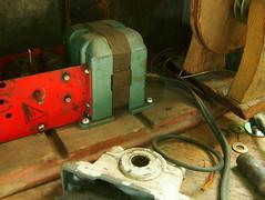 Whitman (CHAUSS513) Tags: sculpture art electric shop studio mechanical steel kinetic workshop bolts motor mechanic wrench socket bearing bolted ratchett