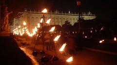 lineas de fuego en la plaza de oriente
