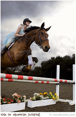 Title ix: equestrian (jumping) (SFMONA) Tags: sf horses horse woman sports girl fashion animal vintage jumping 50s concept ideal conceptual equestrian womenissues titleix superhearts overtheexcellence