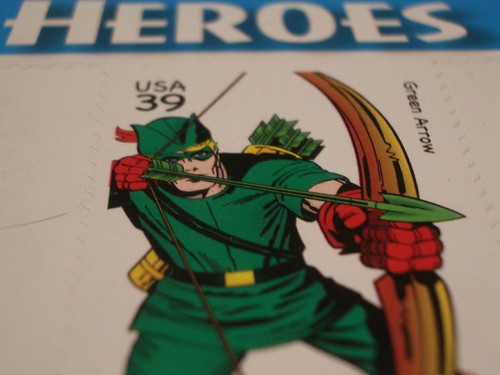 Green Arrow Stamp