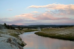 Reverse Firehole River Sunset (Robby Edwards) Tags: sunset vacation water river nationalpark steam yellowstonenationalpark yellowstone wyoming geyser thermal fireholeriver uppergeyserbasin
