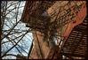 Fire Escapes on Ashley St, above old Del Rio, Ann Arbor, MI (plumb-larrick) Tags: washington michigan ashley annarbor scanned kodachrome mesuper delrio kodchrome smcpa50mmf17
