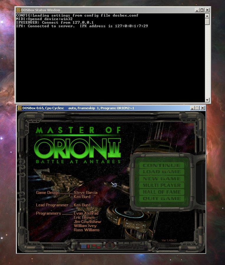 Master of Orion II Online: DosBox Guide