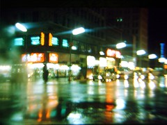 Broad & Market 1966 (Videoal) Tags: night blurry colorful nj 1966 explore rainy newark myfavorite canonae1 essex broadmarket