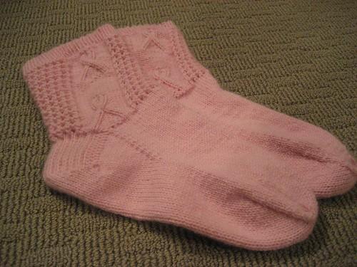 Pink Cashmere Survivor Socks