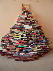 Season's readings (cjanebuy) Tags: california library books christmastree montrose encyclopedias librariesandlibrarians libsandlibs
