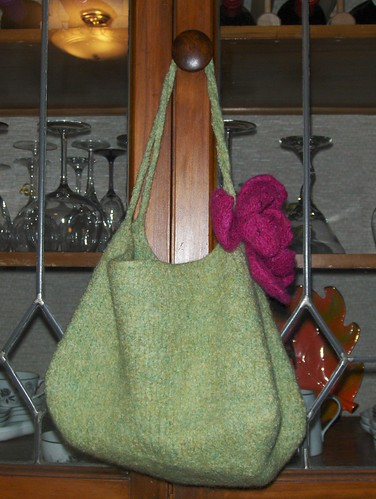 Sophie Purse with Felted Flower