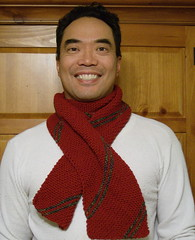 Del wearing Red Scarf #2