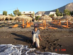 Pantai Perissa, Pulau Santorini, Greece