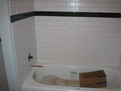 They Started Putting Tiles In The Shower. I ...
