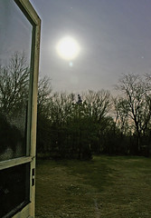 Welcome the Moonlight (~K~) Tags: moon home photoshop canon backyard moonlight canonrebelxt screendoor moonshadows ilovemyoldwoodenscreendoor