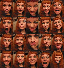 dork collage (normaljean) Tags: portrait woman nerd girl beauty collage ginger funny faces yay redhead explore educational goof makingfaces tongues yourock rubberface imadork 165 nogutsnoglory flickrstar bathroomshots playingaroundbeforeichangedmyhaircolor hardlyp