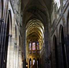 St. Vitus Cathedral - Prague (janusz l) Tags: castle prague cathedral gothic kings bohemian tombs hrad stvitus katedra janusz abigfave anawesomeshot goldstaraward