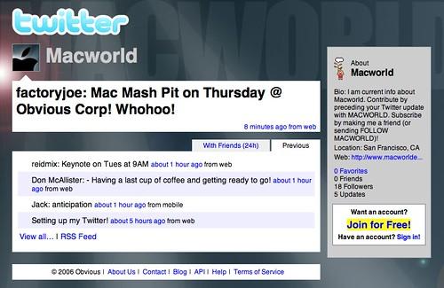 Twitter Macworld