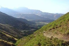 Looking back towards Lalibela (CharlesFred) Tags: 2005 africa travel mountains african ethiopia mule lalibela wollo mesfin