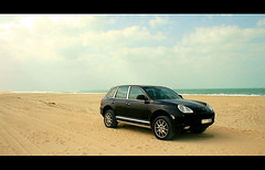 Cayenne II (seven years) Tags: black cars beach dubai uae cayenne porsche