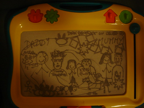Etch-a-sketch of Celeb BB