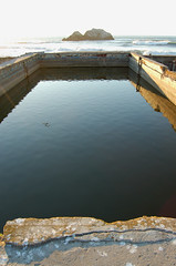 Bath Ruins and Rocks (lisascenic) Tags: ocean sanfrancisco reflection water mirror ruins urbandecay pacificocean baths urbannature sutrobaths sutro mirrored lisascenic bathing reflectingpool lisalazar takingthewaters
