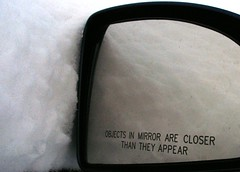 Snow is Closer Than It Appears (pirate johnny) Tags: winter snow reflection car minnesota mirror explore alfresco objectsinthemirrorarecloserthantheyappear protectedbythelord msh0107 msh010713 purgewk54