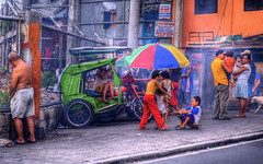 Streets of Manila (wili_hybrid) Tags: street city trip travel winter girls vacation people urban house holiday color pee boys architecture kids geotagged outside outdoors photography photo yahoo high nikon funny asia flickr day exterior dynamic photos outdoor philippines january picture pic journ