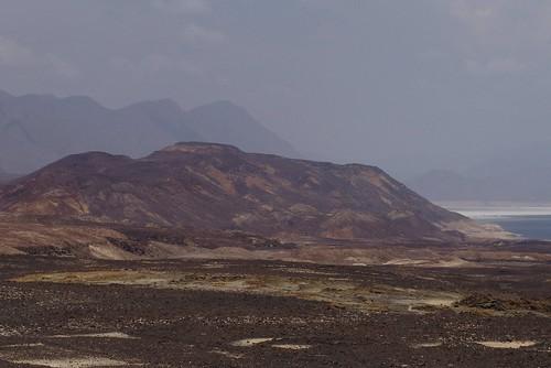 Black volcanic in Danakil